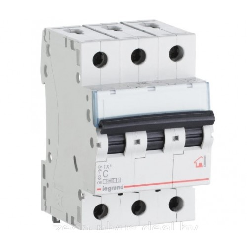 Автоматический выключатель 3P 20A хар-ка C 6kA Legrand ТХ3 (404057)
